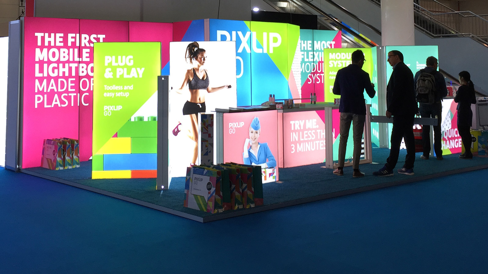 Bright Pixlip Go booth on the Fespa 2017 with visitors