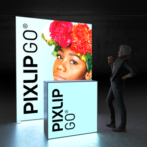 Pixlip Go Set Head stand H200L Lightwall and counter